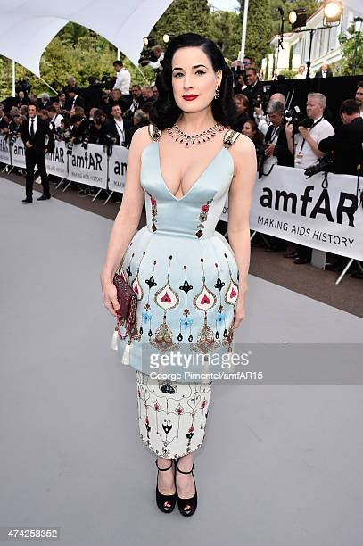 Model Dita Von Teese attends amfAR's 22nd Cinema Against AIDS Gala Presented By Bold Films And Harry Winston at Hotel du CapEdenRoc on May 21 2015 in...