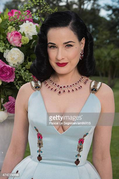 Model Dita Von Teese attends amfAR's 22nd Cinema Against AIDS Gala, Presented By Bold Films And Harry Winston at Hotel du Cap-Eden-Roc on May 21,...