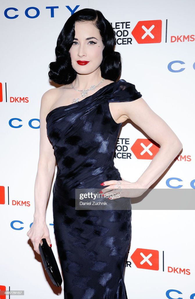 Model Dita Von Teese attends the 2014 Delete Blood Cancer Gala at Cipriani Wall Street on May 7, 2014 in New York City.