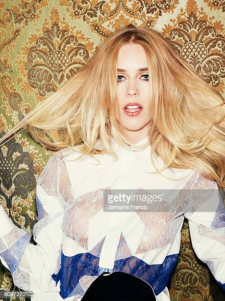 Model DJ rock singer Mary Charteris is photographed for the Sunday Times on July 24 2013 in London England