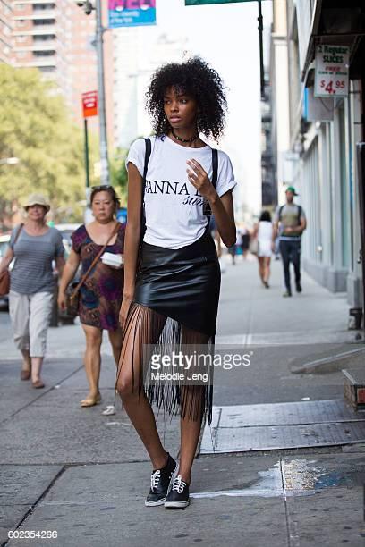 Model Djenice Duarte in Chelsea on September 10 2016 in New York City