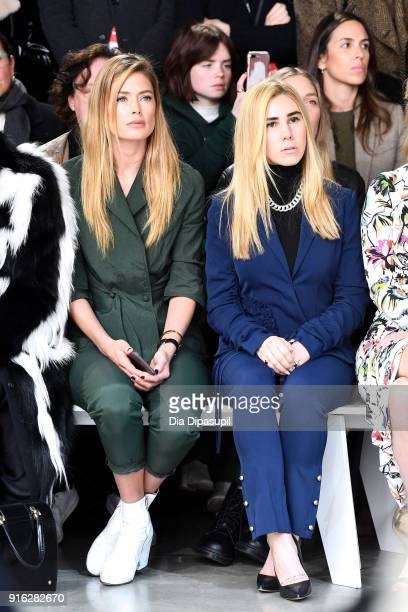 Model Doutzen Kroes and actor Zosia Mamet attend the Jason Wu front row during New York Fashion Week The Shows at Gallery I at Spring Studios on...