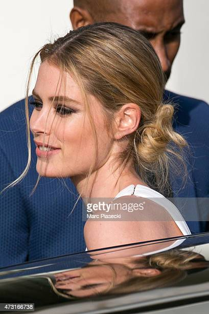 Model Doutzen Kroes and her husband Sunnery James are spotted at the Grand Hyatt Cannes Hotel Martinez during the 68th annual Cannes Film Festival on...