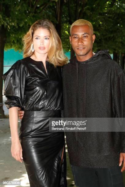 Model Doutzen Kroes and her husband Sunnery James attend the Louis Vuitton Menswear Spring/Summer 2019 show as part of Paris Fashion Week on June 21...