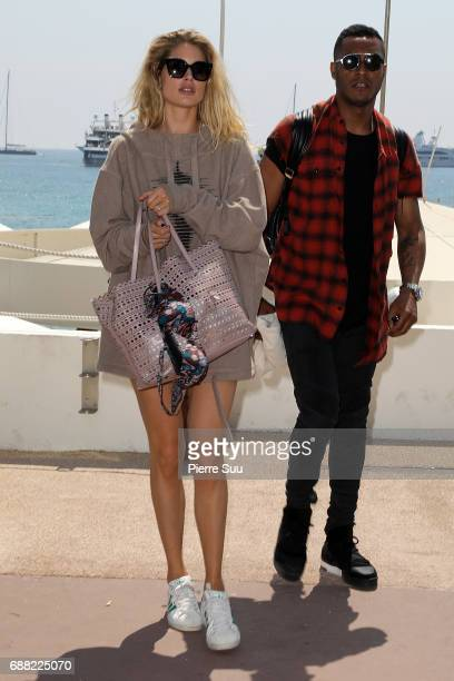 Model Doutzen Kroes and husband Sunnery James are spotted on the croisette during the 70th annual Cannes Film Festival at on May 25 2017 in Cannes...