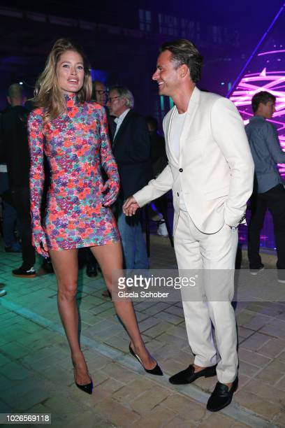 Model Doutzen Kroes and Stephan Luca during the 'Dua Lipa x Jaguar The PACE 'Season One' Launch on September 3 2018 In Amsterdam Netherland The event...