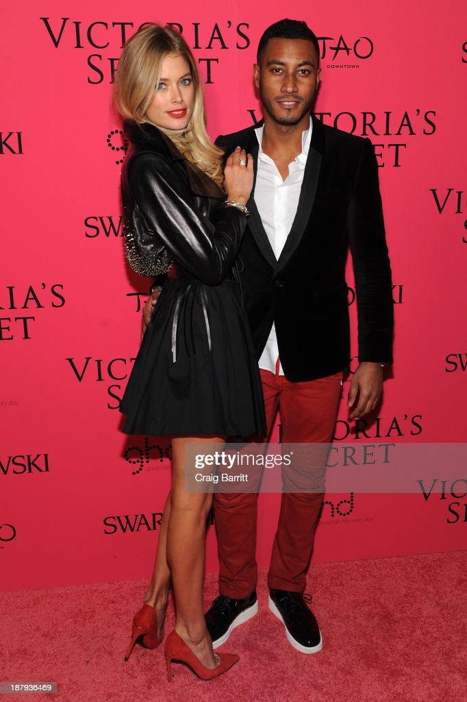 Model Doutzen Kroes and Sunnery James attend the 2013 Victoria's Secret Fashion after party at TAO Downtown on November 13, 2013 in New York City.