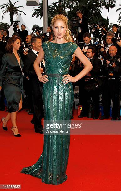 Model Doutzen Kroes attends the 'Cosmopolis' premiere during the 65th Annual Cannes Film Festival at Palais des Festivals on May 25 2012 in Cannes...