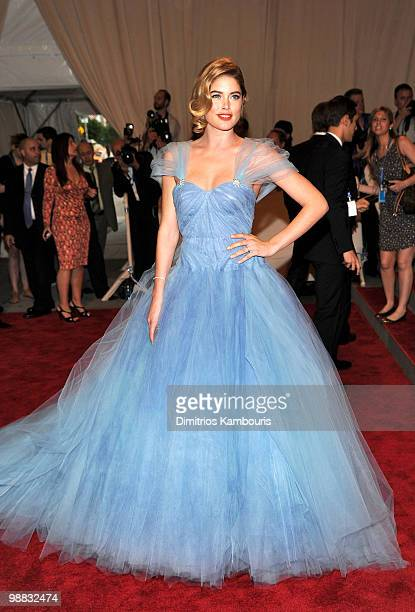 Model Doutzen Kroes attends the Costume Institute Gala Benefit to celebrate the opening of the 'American Woman Fashioning a National Identity'...