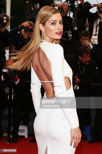 Model Doutzen Kroes attends the 'Jimmy P. ' Premiere during the 66th Annual Cannes Film Festival at the Palais des Festivals on May 18, 2013 in...