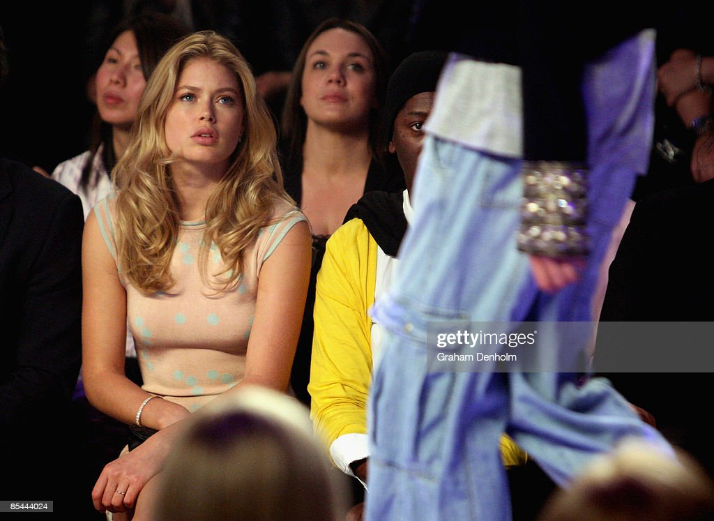 Model Doutzen Kroes attends the Life With Bird fashion show during the L'Oreal Melbourne Fashion Festival 2009 at the Malvern Town Hall/Peninsula Docklands on March 16, 2009 in Melbourne, Australia.