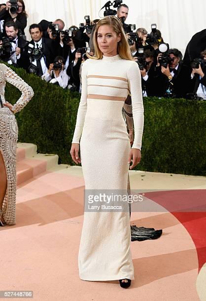 Model Doutzen Kroes attends the 'Manus x Machina Fashion In An Age Of Technology' Costume Institute Gala at Metropolitan Museum of Art on May 2 2016...