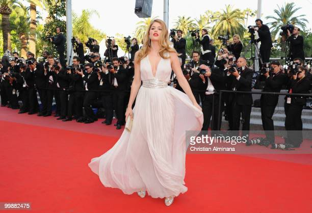 Model Doutzen Kroes attends the 'Of Gods and Men' Premiere held at the Palais des Festivals during the 63rd Annual International Cannes Film Festival...