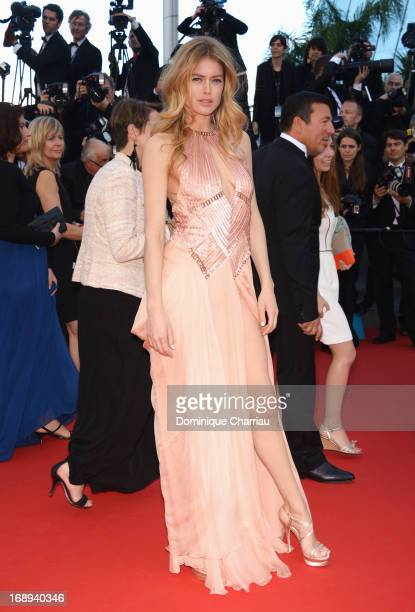 Model Doutzen Kroes attends the Premiere of 'Le Passe' during The 66th Annual Cannes Film Festival at Palais des Festivals on May 17 2013 in Cannes...