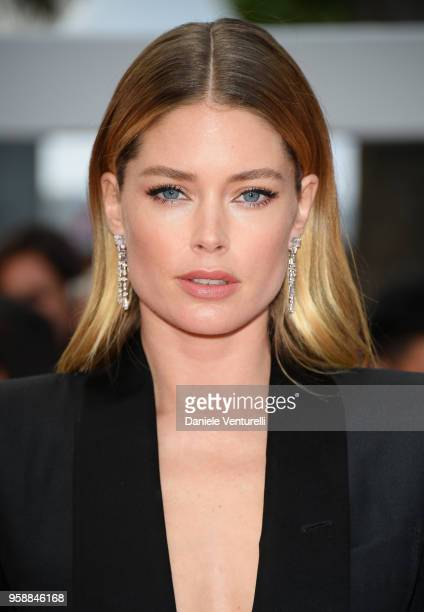Model Doutzen Kroes attends the screening of 'Solo A Star Wars Story' during the 71st annual Cannes Film Festival at Palais des Festivals on May 15...