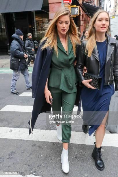 Model Doutzen Kroes is seen on February 09 2018 in New York City