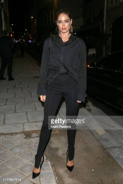 Model Doutzen Kroes is seen on September 27, 2019 in Paris, France.