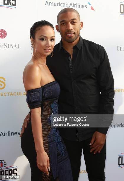 Model Draya Michele and NFL player Orlando Scandrick attend the 32nd Annual CedarsSinai Sports Spectacular Gala at W Los Angeles Westwood on April 3...