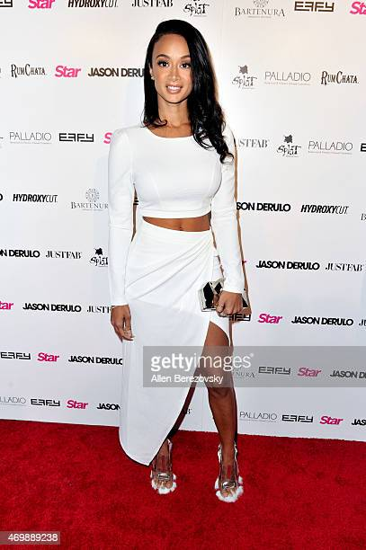 Model Draya Michele attends Star Magazine's Hollywood Rocks Event with Jason Derulo at The Argyle on April 15 2015 in Hollywood California