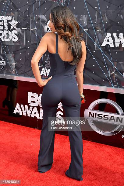 Model Draya Michele fashion detail attends the 2015 BET Awards at the Microsoft Theater on June 28 2015 in Los Angeles California