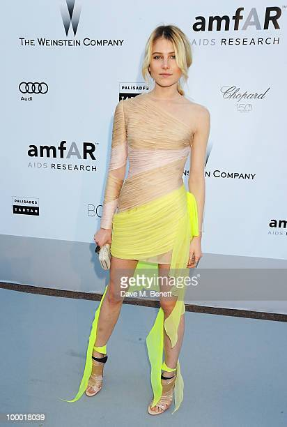 Model Dree Hemingway arrives at amfAR's Cinema Against AIDS 2010 benefit gala at the Hotel du Cap on May 20 2010 in Antibes France