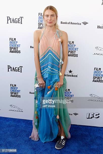 Model Dree Hemingway attends the 2016 Film Independent Spirit Awards on February 27 2016 in Santa Monica California