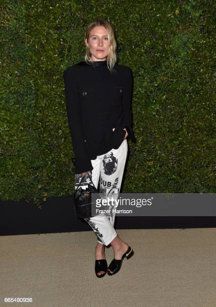 Model Dree Hemingway attends the celebration of Chanel's Gabrielle Bag hosted by Caroline De Maigret and Pharrell Williams at Giorgio Baldi on April...