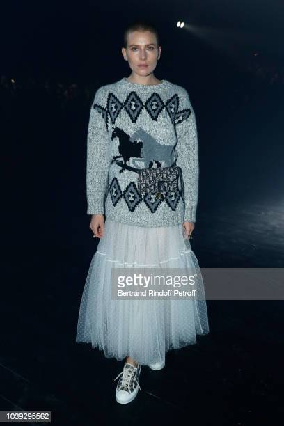 Model Dree Hemingway attends the Christian Dior show as part of the Paris Fashion Week Womenswear Spring/Summer 2019 on September 24 2018 in Paris...