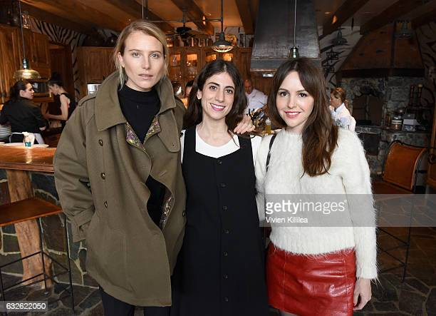 Model Dree Hemingway entertainment editor at Glamour magazine Kate Branch and director Michelle Morgan attend Lunch Celebrating Films Powered By...