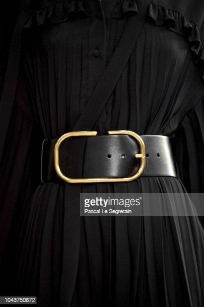 A model dress detail walks the runway during the Valentino show as part of the Paris Fashion Week Womenswear Spring/Summer 2019 on September 30 2018...