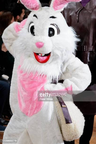 Model dressed as rabbit walks the runway during the Stella McCartney as part of the Paris Fashion Week Womenswear Fall/Winter 2020/2021 on March 02,...