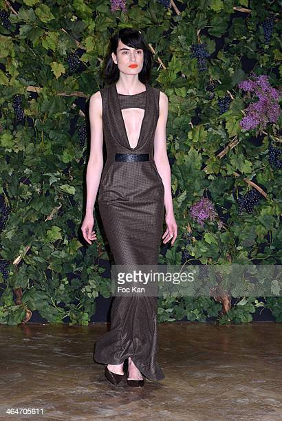 A model dressed by Didit walks the runway during the Didit show as part of Paris Fashion Week Haute Couture Spring/Summer 2014 At Hotel Salomon de...