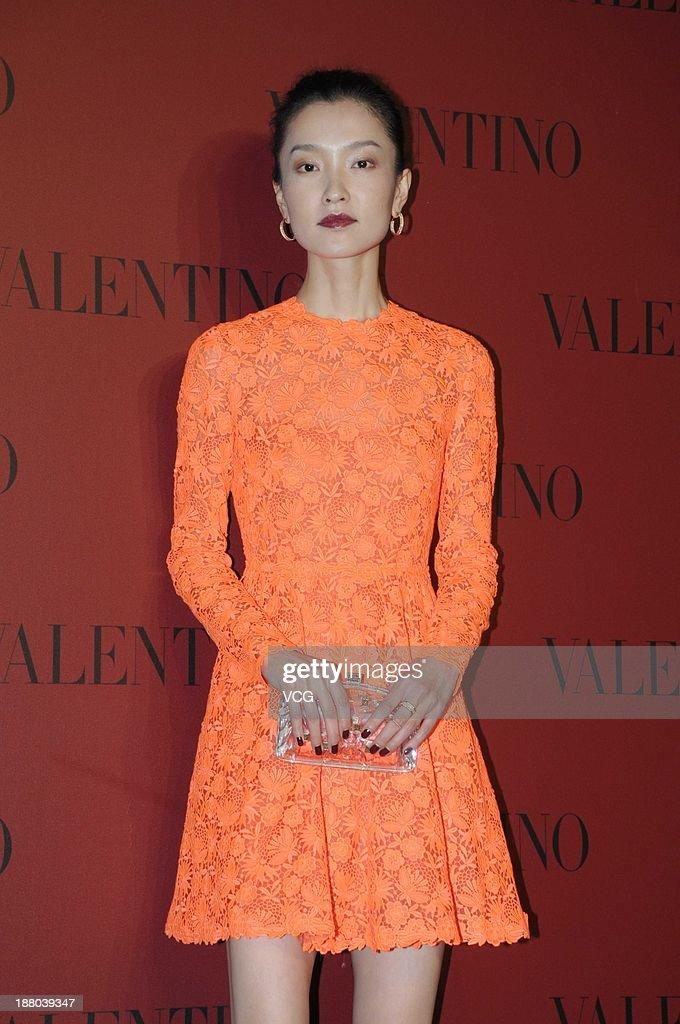 Model Du Juan attends Valentino Fashion Show at Shanghai Port International Cruise Terminal on November 14, 2013 in Shanghai, China.