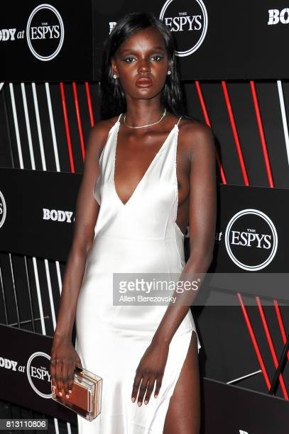 Model Duckie Thot attends BODY At The ESPYS PreParty at Avalon Hollywood on July 11 2017 in Los Angeles California