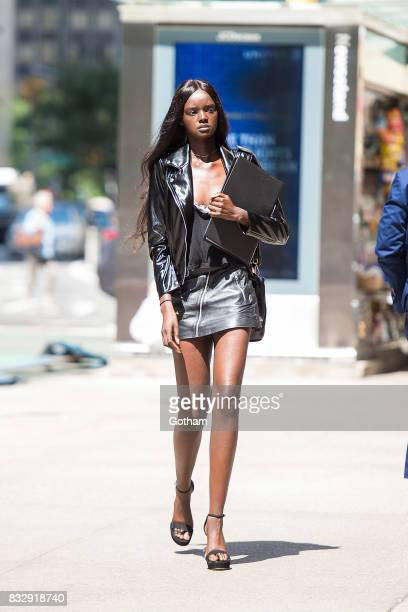 Model Duckie Thot attends casting for the 2017 Victoria's Secret Fashion Show in Midtown on August 16 2017 in New York City