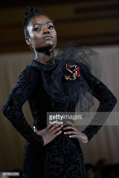 Model during the African Fashion Week in Toronto,Canada on 20th August,2016.