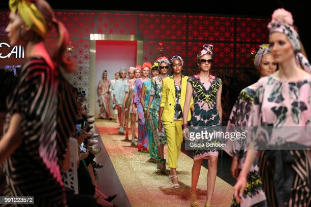 A model during the Marc Cain Fashion Show Spring/Summer 2019 at WEEC Westhafen on July 3 2018 in Berlin Germany