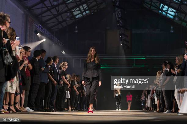 A model during The OPPO launch at Carriageworks on February 1 2018 in Sydney Australia