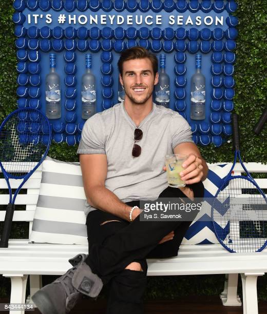 Model Dusty Lachowicz poses during Grey Goose Toasts the 2017 US Open - Round of 16 at USTA Billie Jean King National Tennis Center on September 4,...