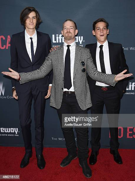 Model Dylan Brosnan actor Sean Brosnan and Paris Brosnan arrive at the premiere of The Weinstein Company's 'No Escape' at Regal Cinemas LA Live on...