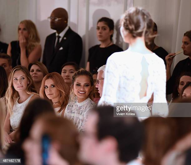 Model Dylan Frances Penn actress Ashley Tisdale model Chrissy Teigen and Chief Executive Officer of Kohl's Corporation Kevin Mansell attend the LC...