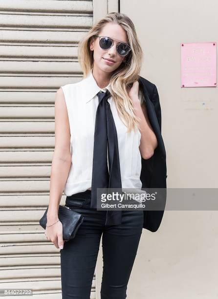 Model Dylan Frances Penn arrives at Desigual fashion show during New York Fashion Week The Shows at Gallery 1 Skylight Clarkson Sq on September 7...