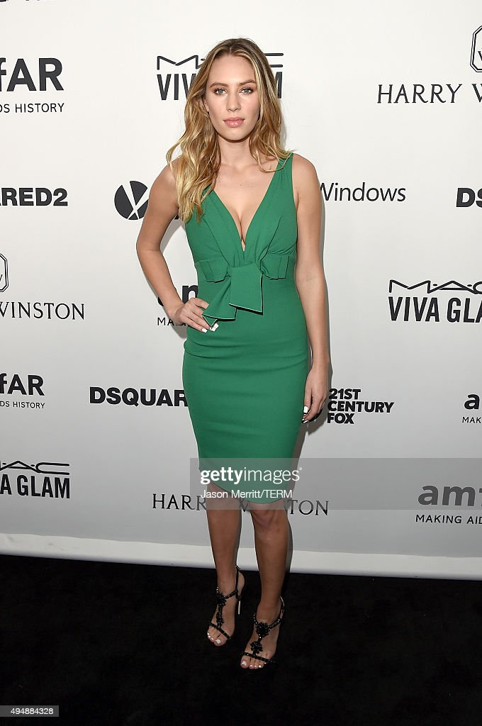 Model Dylan Penn attends amfAR's Inspiration Gala Los Angeles at Milk Studios on October 29, 2015 in Hollywood, California.