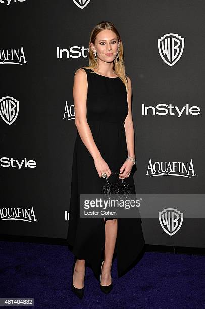 Model Dylan Penn attends the 16th Annual Warner Bros and InStyle PostGolden Globe Party at The Beverly Hilton Hotel on January 11 2015 in Beverly...