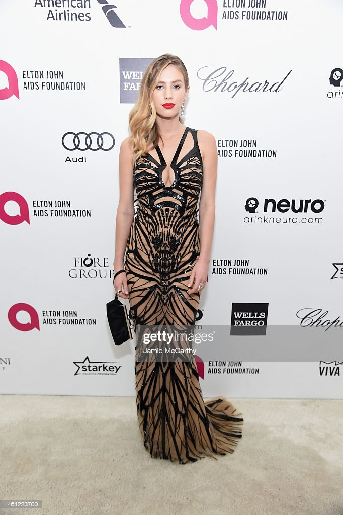 Model Dylan Penn attends the 23rd Annual Elton John AIDS Foundation Academy Awards Viewing Party on February 22, 2015 in Los Angeles, California.