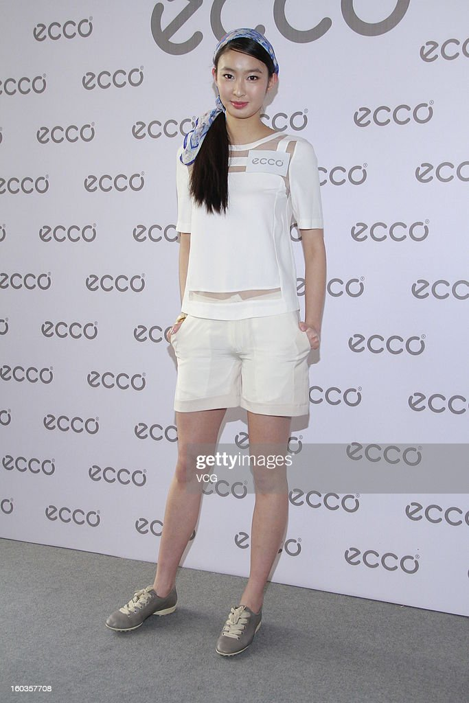 Model Edelweiss Cheung attends ECCO promotional event at Madam Sixty Ate on January 29, 2013 in Hong Kong, Hong Kong.