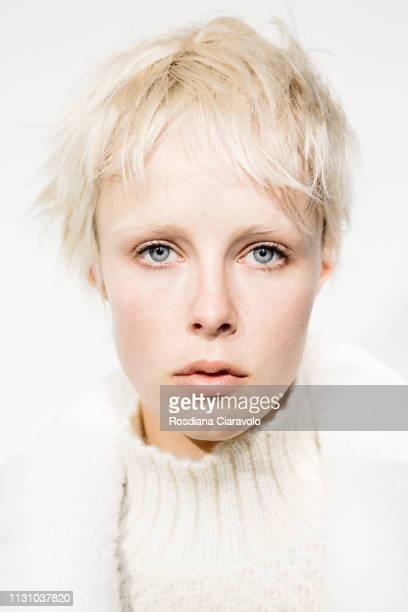 Model Edie Campbell is seen backstage ahead of the Alberta Ferretti show at Milan Fashion Week Autumn/Winter 2019/20 on February 20 2019 in Milan...