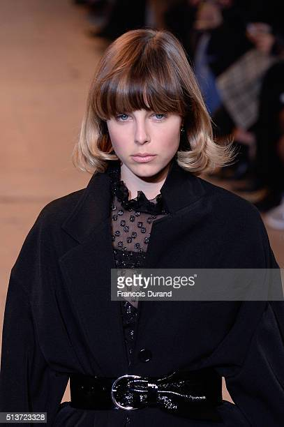 Model Edie Campbell walks the runway during the Isabel Marant show as part of the Paris Fashion Week Womenswear Fall/Winter 2016/2017 on March 4 2016...