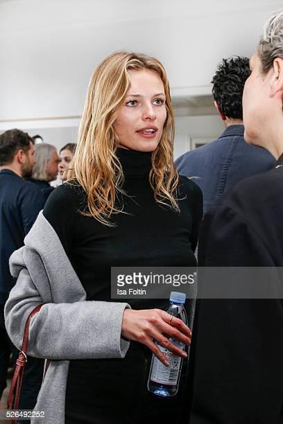 Model Edita Vilkeviciute at 'Der Berliner Fotografie Salon Edition 1' on April 29 2016 in Berlin Germany