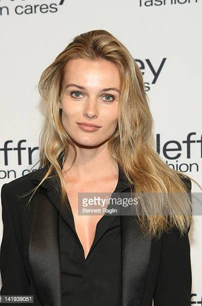 Model Edita Vilkeviciute attends Jeffrey Fashion Cares 2012 at the Intrepid Aircraft Carrier on March 26 2012 in New York City